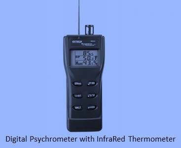 Digital Psychrometer with InfraRed Thermometer