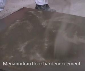 aplikasi floor hardener semen