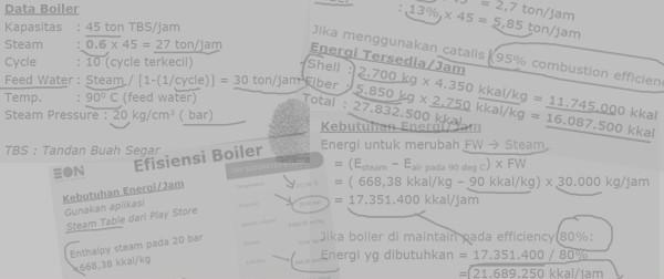 perhitungan efisiensi boiler pks